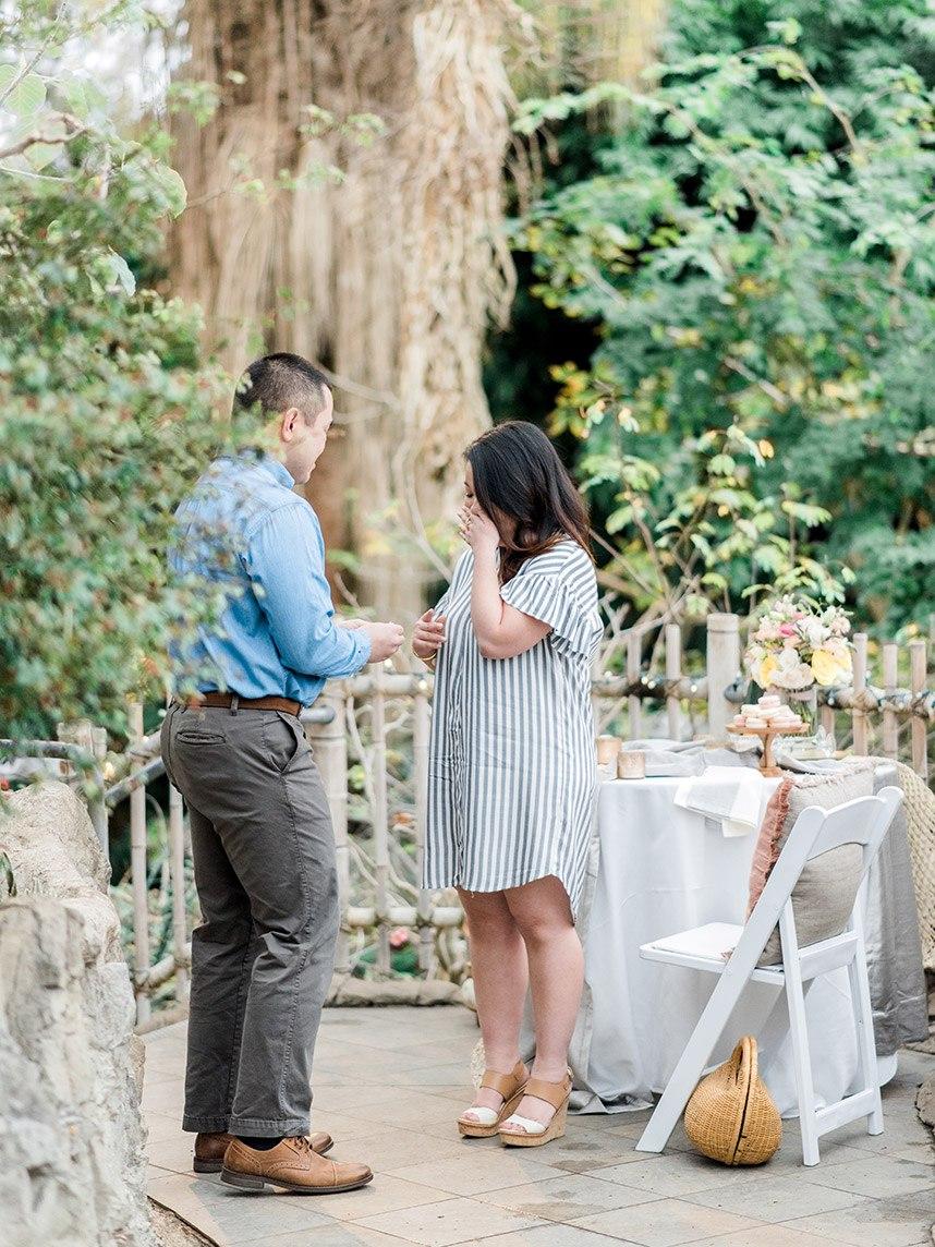 Surprise Garden Proposal Styled Shoot Oklahoma Wedding Planner and Florist June Sixteenth Events Oklahoma Wedding Venue Myriad Botanical Gardens 071
