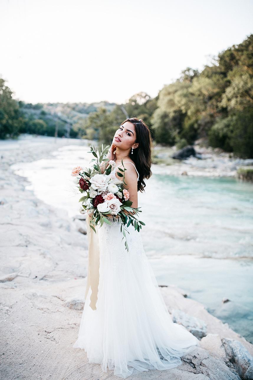 Elegant Boho Bridals at Turner Falls Captured by Kailey Watson Photo_1