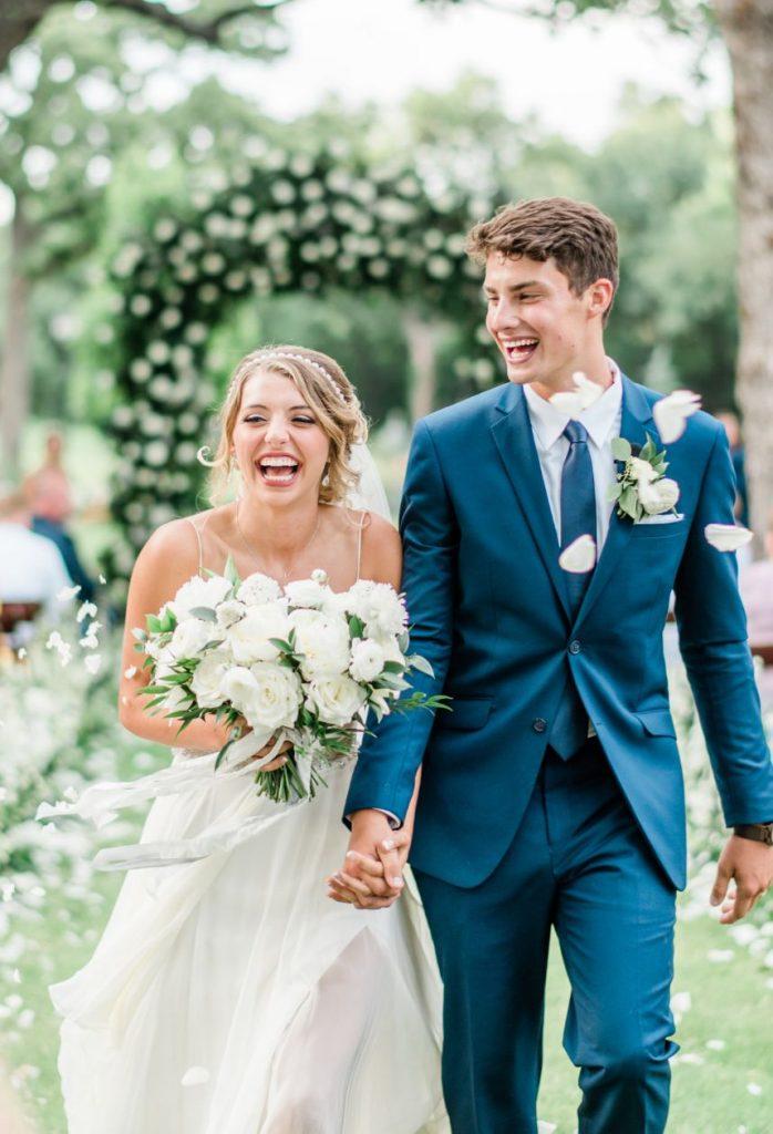 Victoria Walker Weds Jacob Schooler Elegant White Backyard Wedding