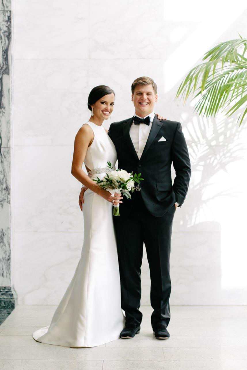 Jeni Hendricks Weds Jackson Stallings Timeless + Modern White Wedding