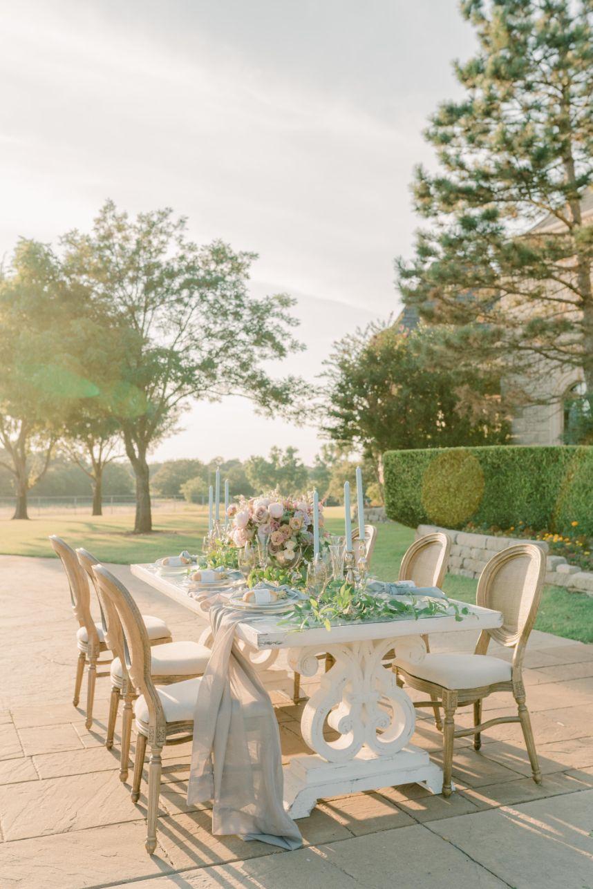 french wedding setting