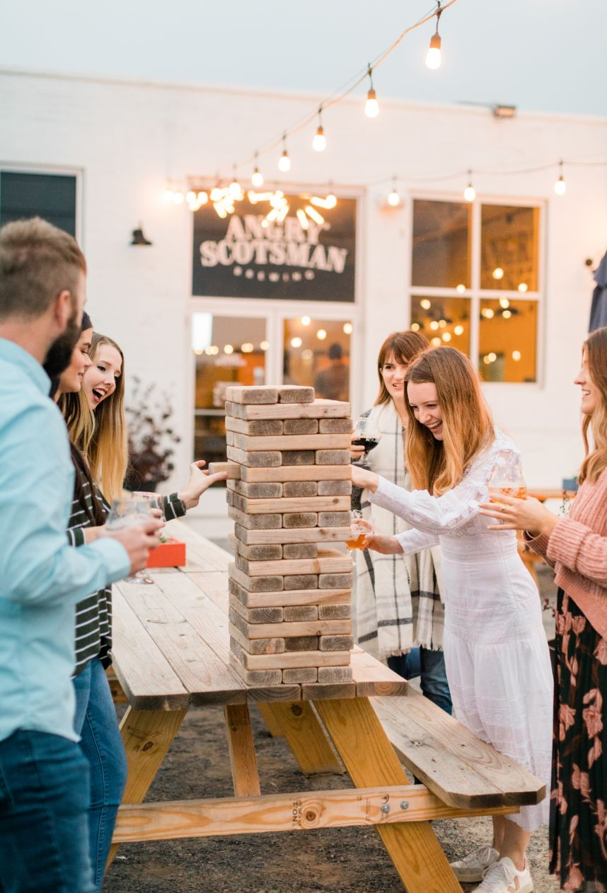 Local Bachelorette Party Angry Scotsman Brewing Oklahoma Wedding Photographer Carsyn Abrams Photography
