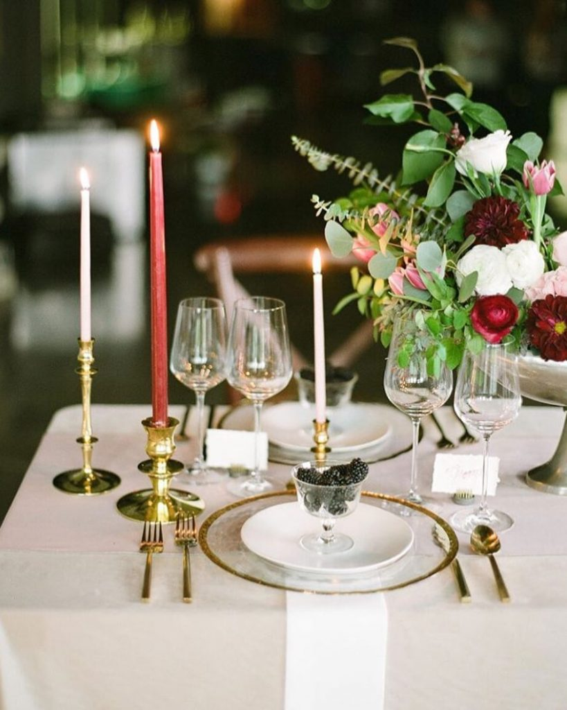 Looking for ways to elevate your tablescape? The ladies of junesixteenthevents have it figured out! Candlelit dinners have always been