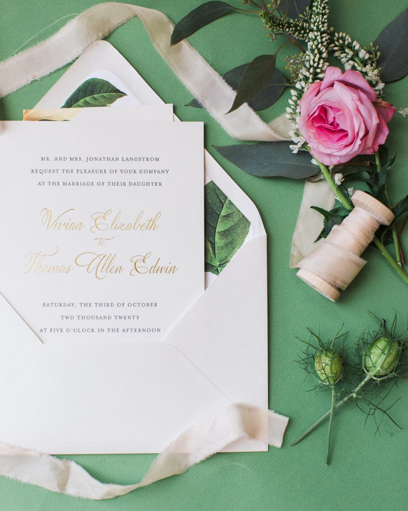 noregretsokc aced the invitation suite that incorporated a classic elegance with the refreshing green tones of the occasion. Any colorful