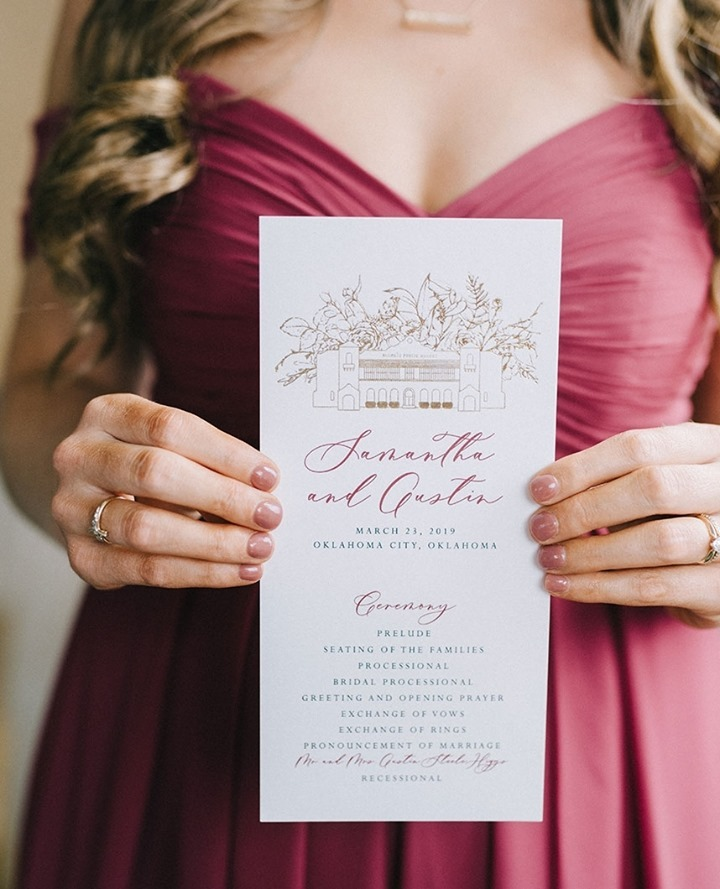 It's the little things! Signage and stationery (more than just the invitation – anything involving words on display) play a