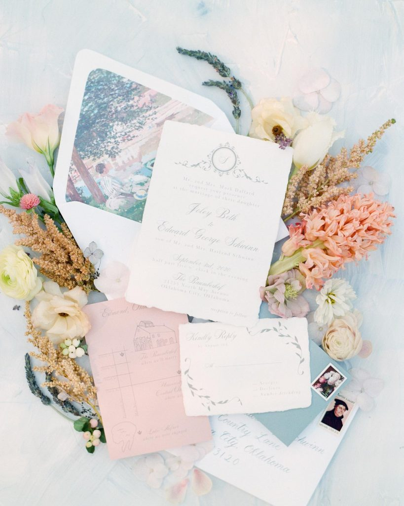 """From planners Tara Towns, Haleigh Kenney + Alex Berry of feteokc: """"We wanted to create a beautiful and elegant ceremony"""