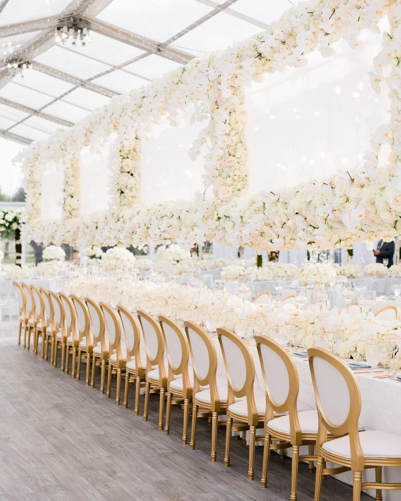 """""""My favorite memory of the day was being snuck into our reception tent before any of our guests came in"""