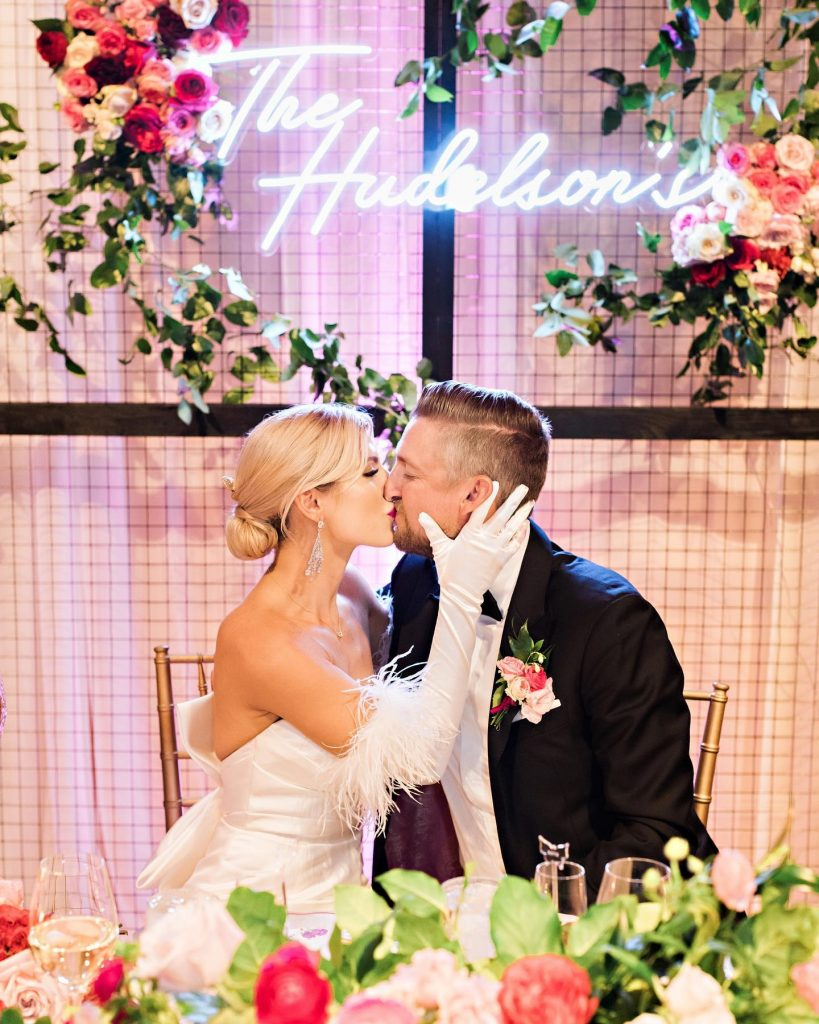 """""""I spent so many late nights in the weeks leading up to the wedding hand stringing butterflies. It was a"""