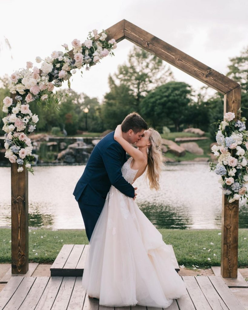 """From planners Amanda + Keely of embellishedweddings: """"The design elements that tied this wedding together were classic, timeless, cheerful and"""