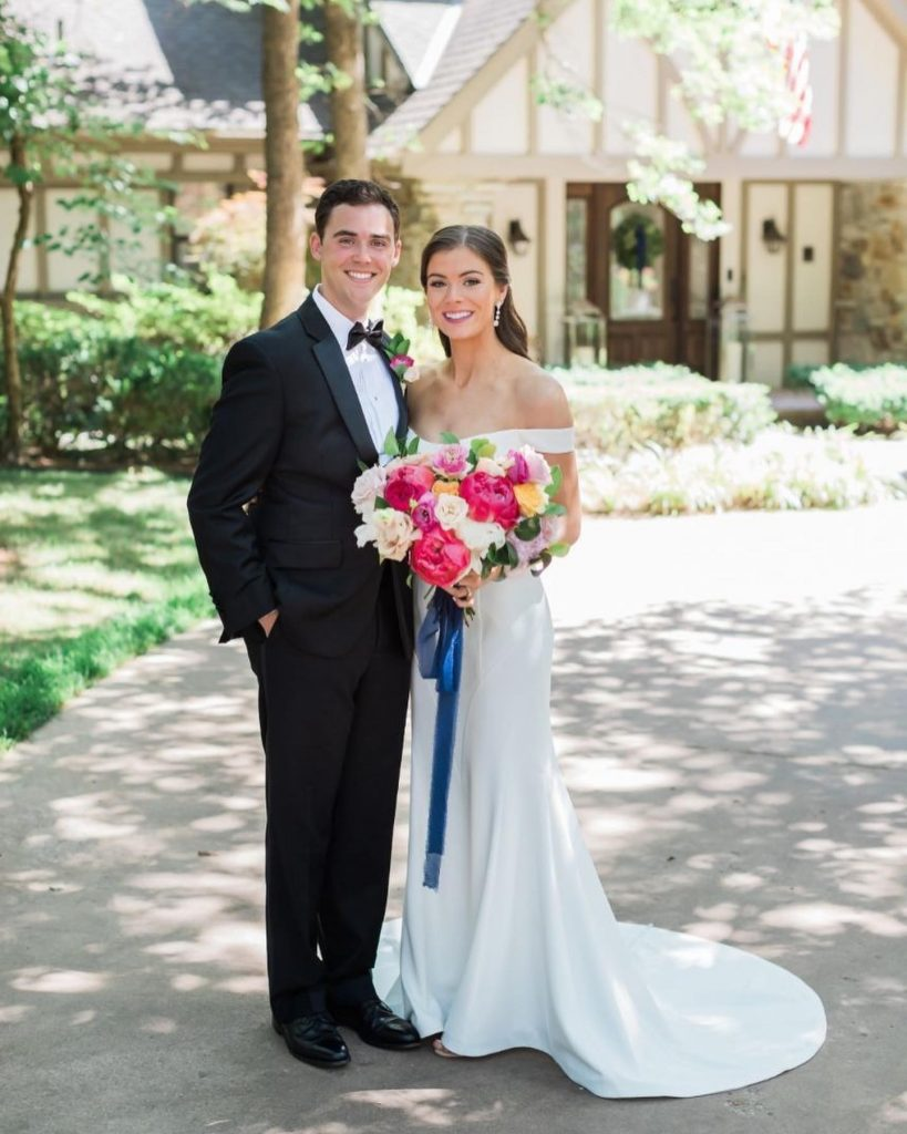 """""""My favorite part of the day was the reception, where we enjoyed a lovely dinner under the strung bistro lights"""
