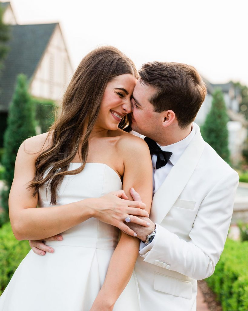"""""""My favorite wedding day memory is walking into the reception for the first time to do our first dance. Walking"""