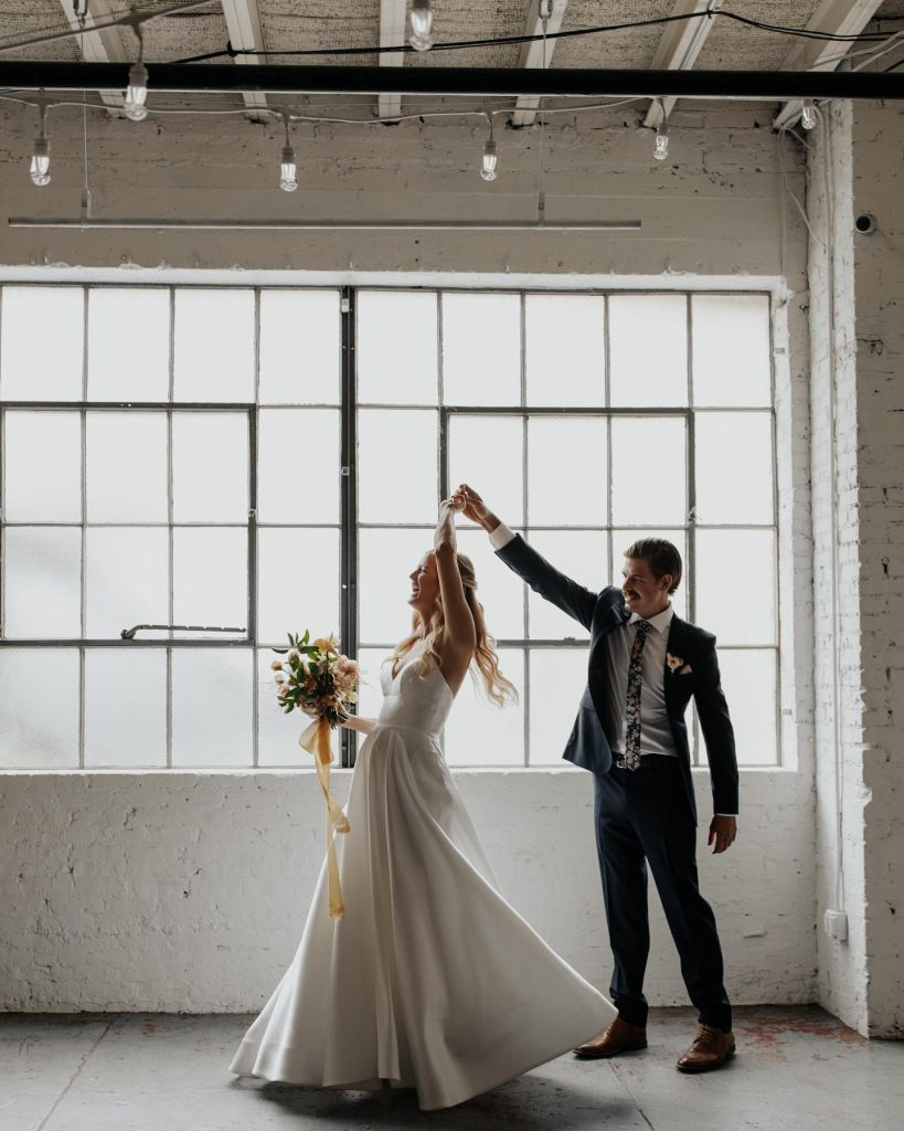 """""""Our favorite wedding vendor was our INCREDIBLE band, Groove Merchants, with boxtalentagency. I can't express enough how much energy and"""