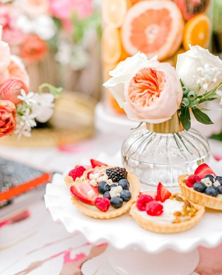 Don't be TARTY for the PARTY! alliesbakingboutique has world-class pastries ready for your wedding celebration. Make your dessert spread stand