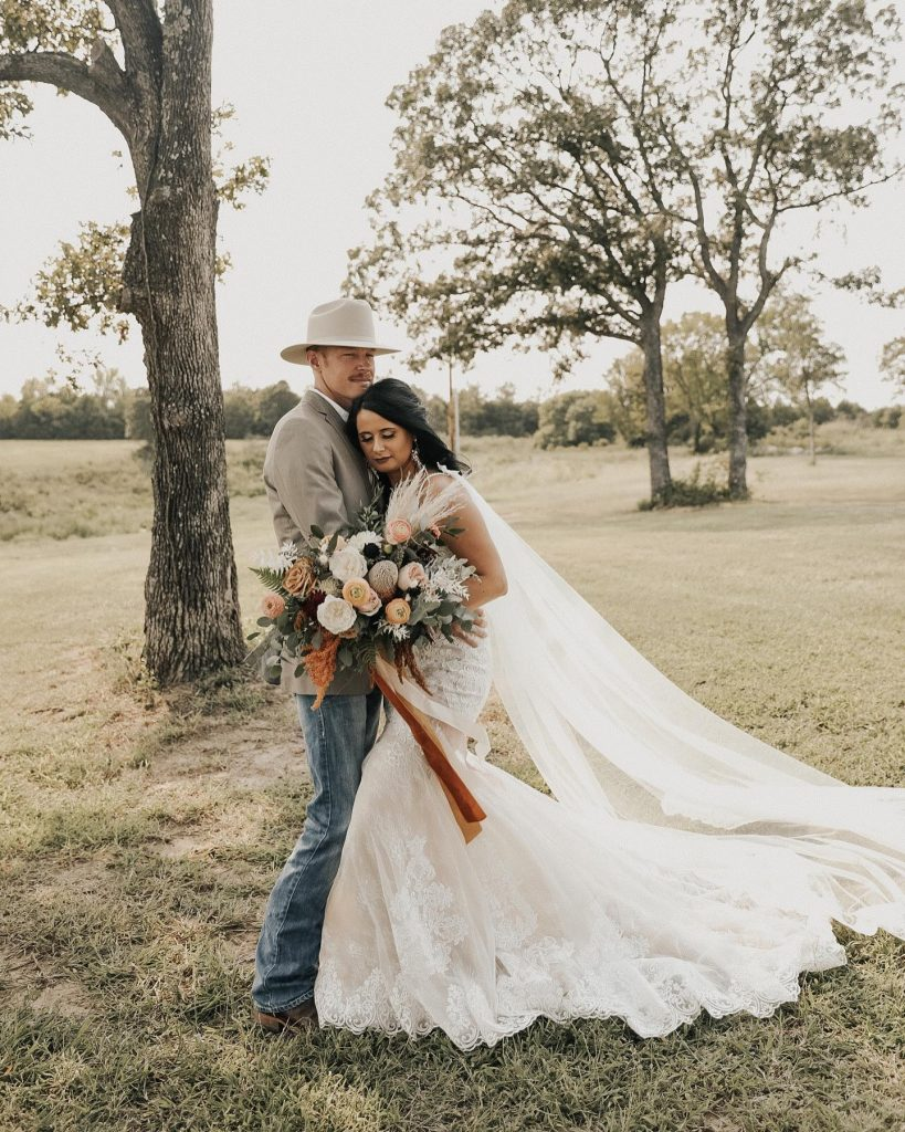 """""""My favorite wedding day memory was walking back up the aisle after our ceremony. After rescheduling our wedding a couple"""