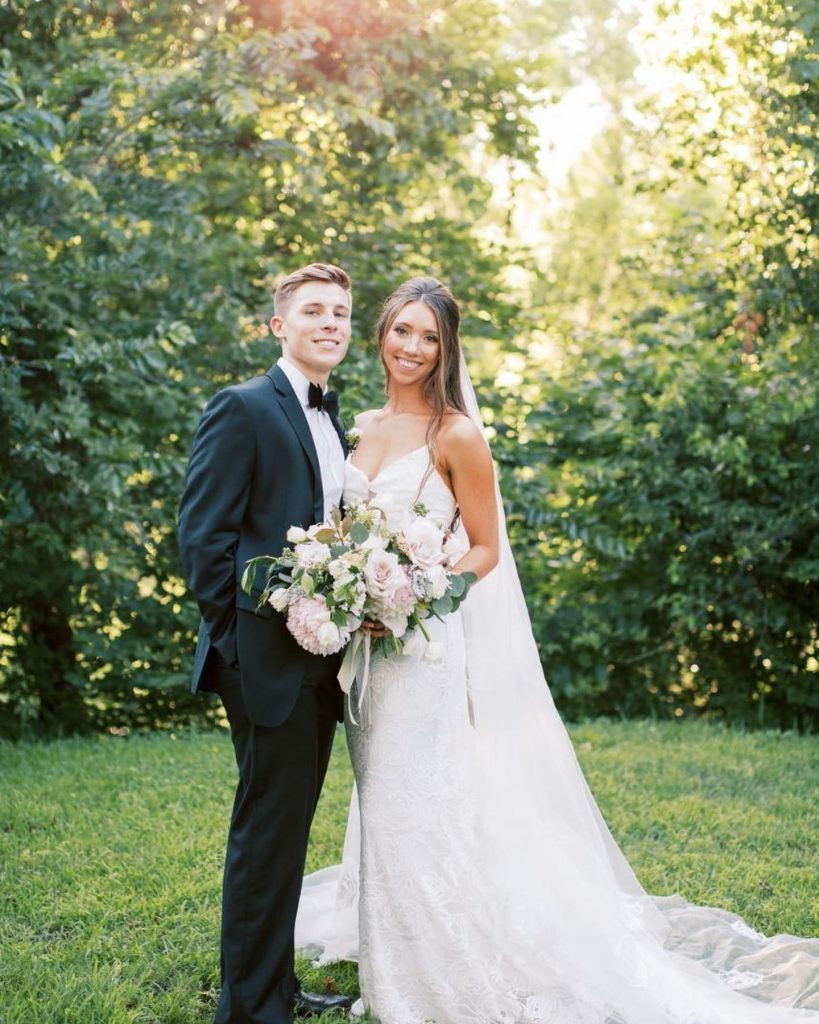 """""""My absolute favorite wedding day memory was our first look. That was the most precious part of the day. Getting"""