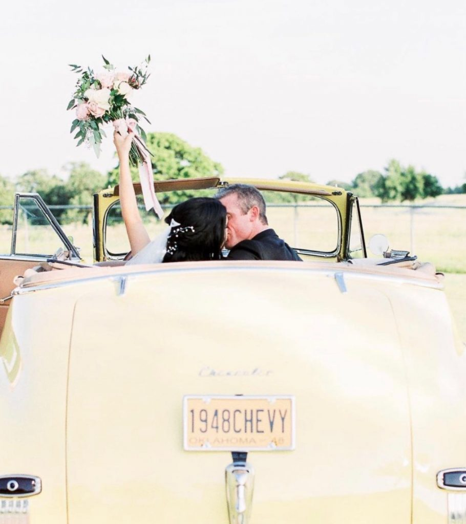 """Beep beep! foreverborrowed said it best: """"Get in brides...we're going to celebrate!"""" ? // Photo: hollyfeltsphoto • • Brides of"""