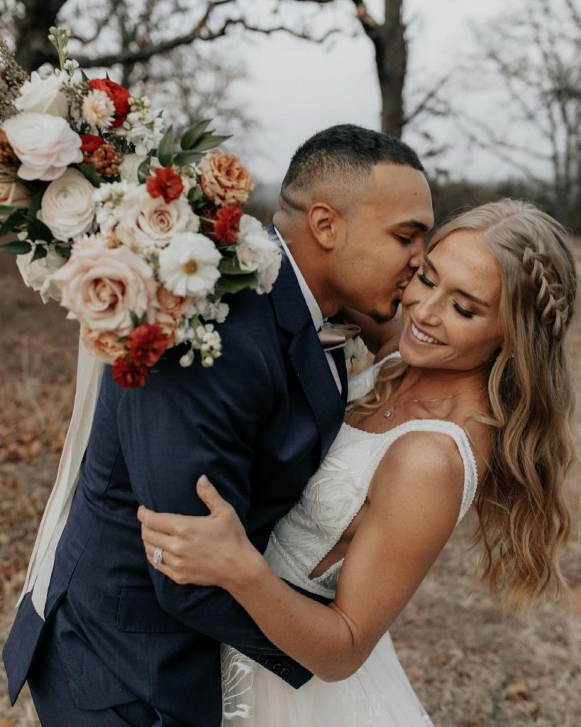 """From the bride: """"My favorite wedding day memory was walking down the aisle to Devon during the ceremony. I'm thankful"""