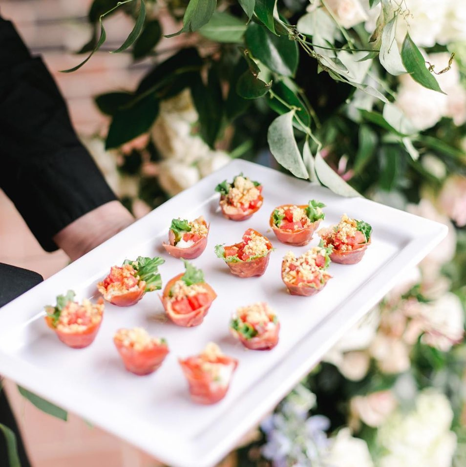 """A mouthful of Italian happiness! These BLT apps served in a prosciutto cup are enough to make you say """"amore!"""""""
