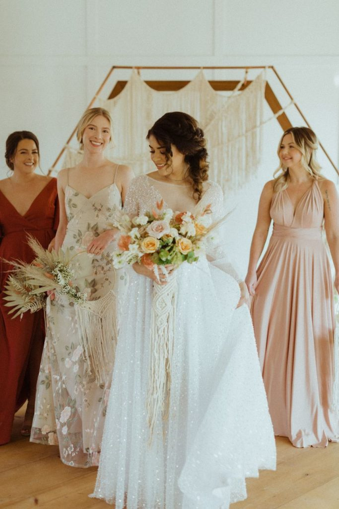 Boho Wedding Inspiration Macrame Oklahoma Wedding Decor Rentals Boho by Jenn Oklahoma Wedding Dress Gown Shop Avari Bridal
