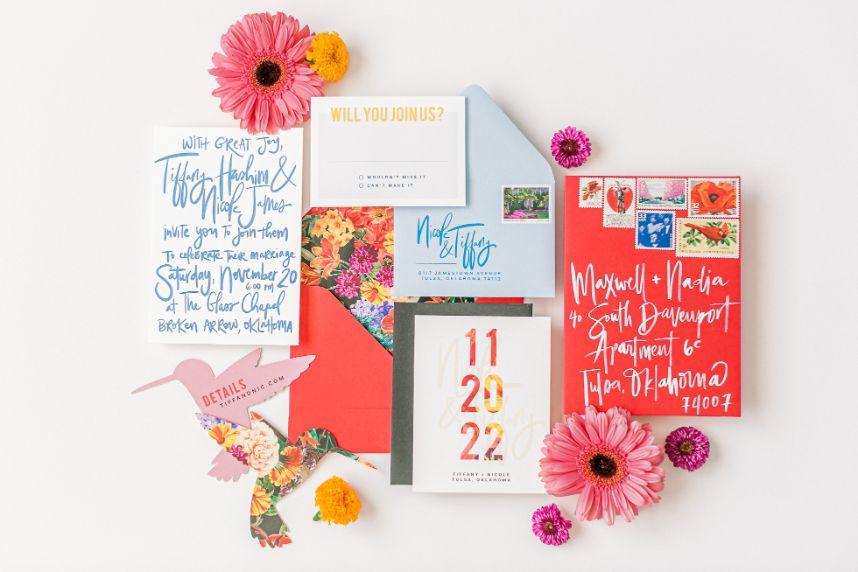 Emily Nicole photo – spot calligraphy and envelope