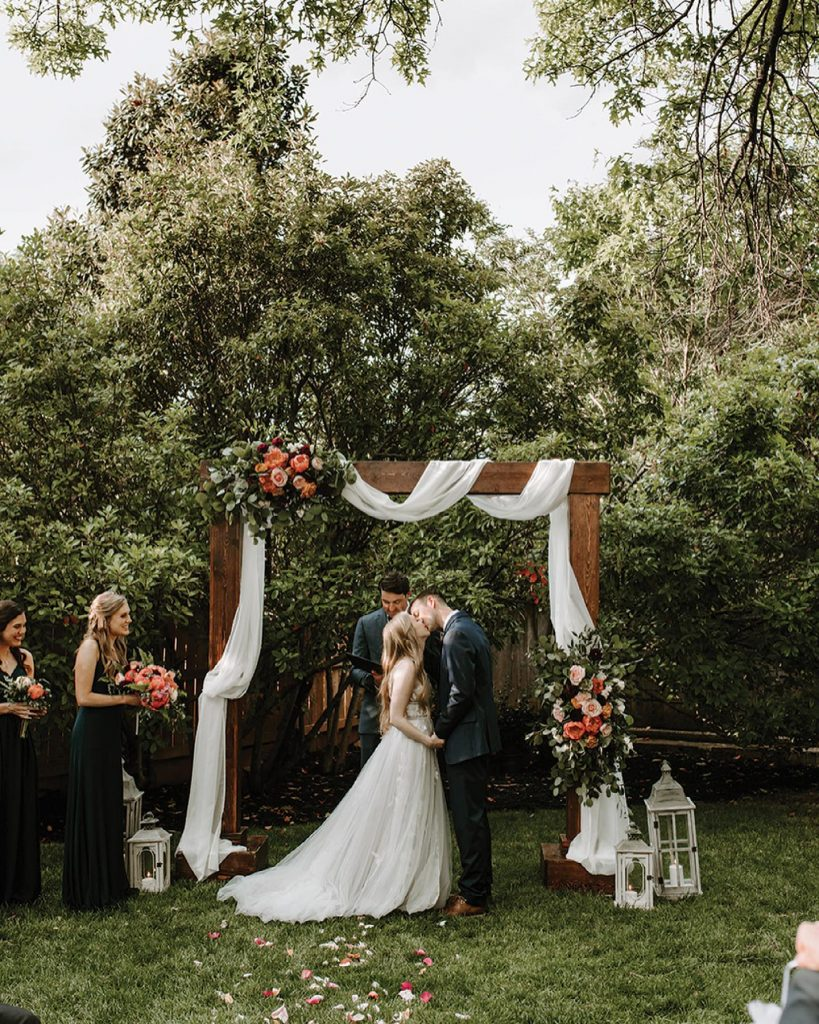 """""""I cannot recommend mariannesrentals enough! They had everything I could think of to make our backyard the dreamiest ceremony and"""