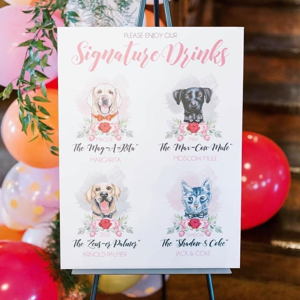 Which pet pal are you?! amyleeillustratilon made a masterpiece menu inspired by some very important four-legged friends. Save this idea,