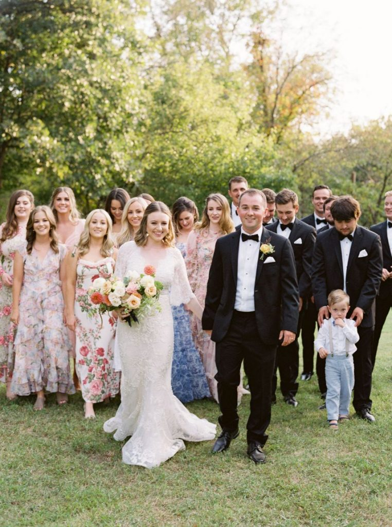 Madison and Chase's Delayed + Dreamy Tented Wedding Reception