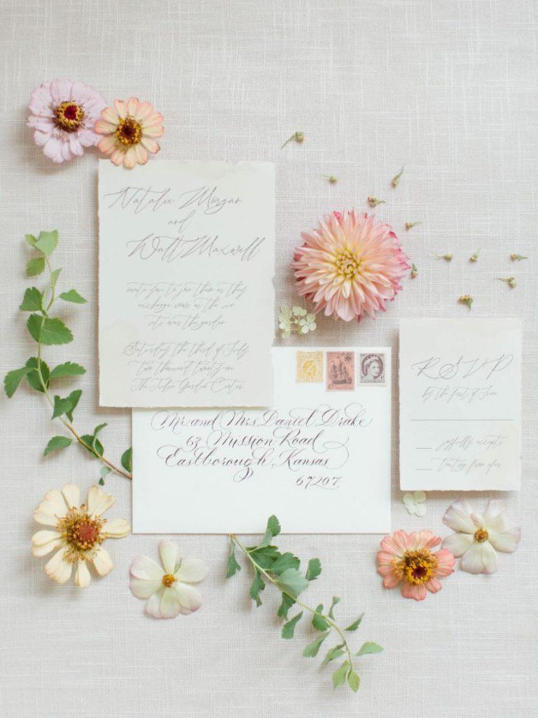 Elegant Wedding Portrait Inspiration with Vintage Paperie Details
